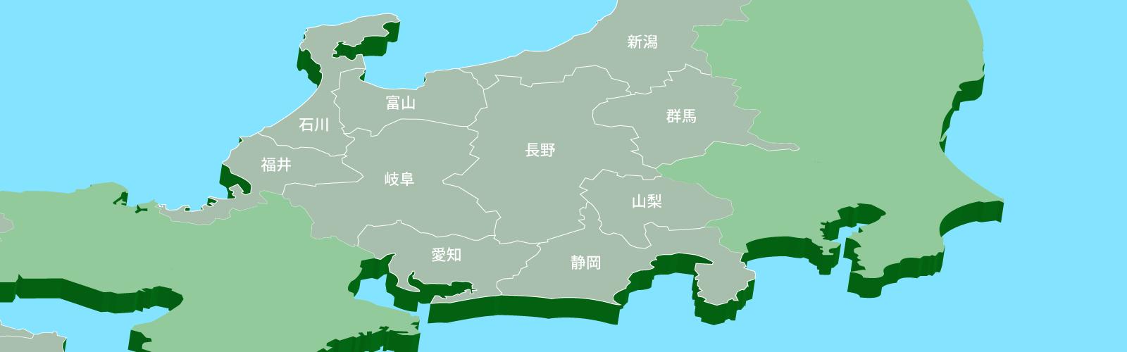 中部エリア地図