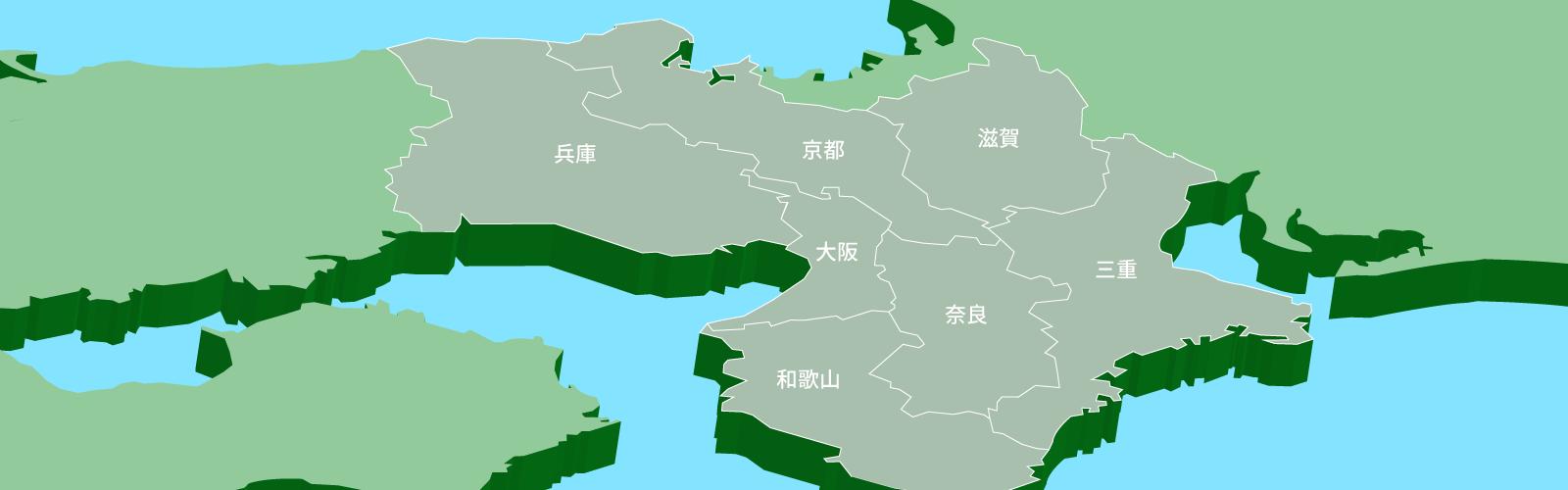 近畿エリア地図