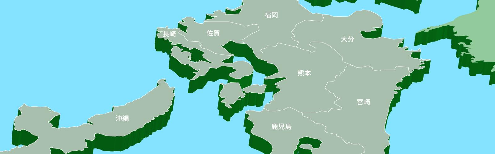 九州・沖縄エリア地図